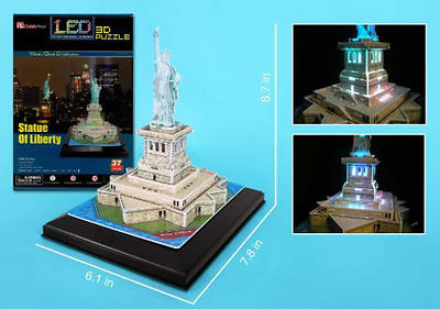 Picture of Statue of Liberty 3D Puzzle with Base & Lights