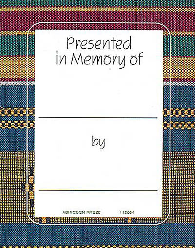 Kente In Memory of Bookplate (Package of 15)