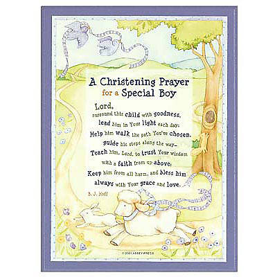 Christening Prayer Plaque-Boy