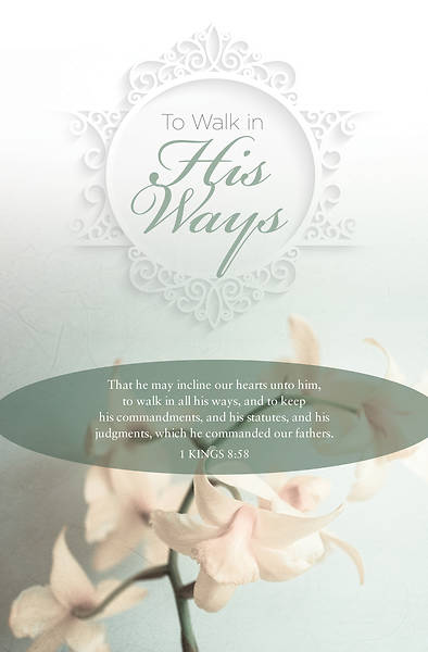 Picture of To Walk in His Ways Wedding Bulletin - Pack of 100