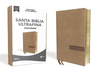 Picture of Nbla Santa Biblia Ultrafina, Letra Grande, Tamao Manual, Leathersoft, Beige, Edicin Letra Roja