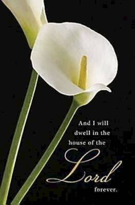 Picture of Calla Lilies Funeral Bulletin (Pkg of 50)