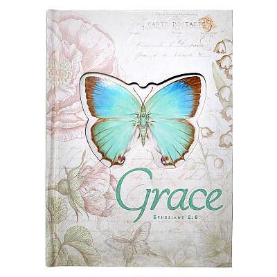Journal Hardcover Die-Cut Large Butterfly Grace Ephesians 2