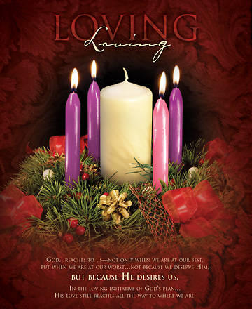 Advent Week4/Loving Bulletin, Large (Package of 100)