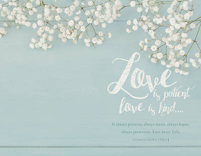 Picture of Love is Patient, Love is Kind Wedding Regular Size Bulletin
