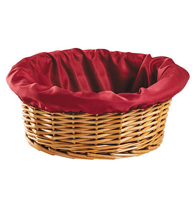 Woven Reed Offering Basket - Round, No Handle