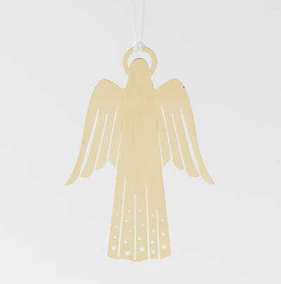 Metal Ornament Angel - Gold