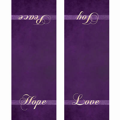 Picture of Chrismons Advent Pulpit Scarf - Purple