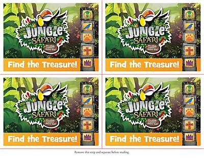 Standard VBS Jungle Safari Invitation Postcards (52)