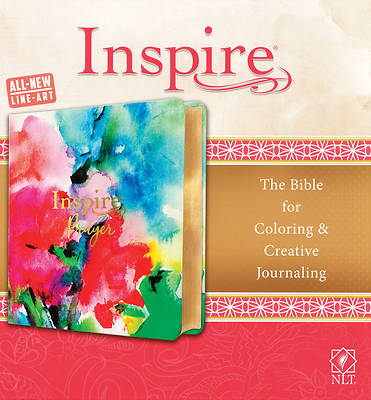 Picture of Inspire Prayer Bible NLT (Leatherlike, Joyful Colors with Gold Foil Accents)