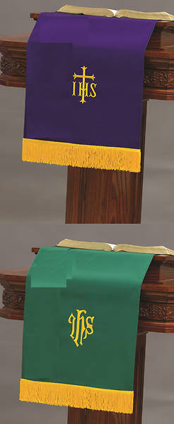 Abbott Hall SP Reversible Purple/Green Pulpit Scarf