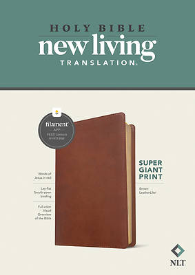 Picture of NLT Super Giant Print Bible, Filament Enabled Edition (Red Letter, Leatherlike, Brown)