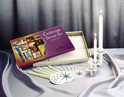 Emkay Candlelight Service Set - 125 Congregational Candles - 125 Congregational Candles