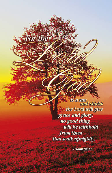 Psalm 84:11 Bulletin, Regular (Package of 100)