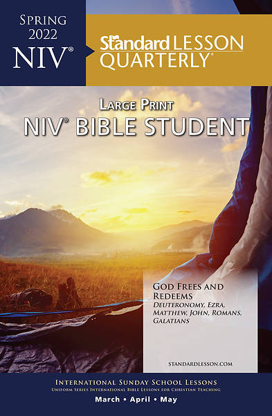 Standard Lesson Quarterly Adult NIV Bible Student Book Large Print Spring 2018
