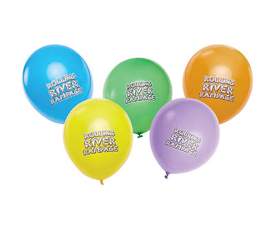 Vacation Bible School (VBS) 2018 Rolling River Rampage Logo Balloons (Pkg of 100)