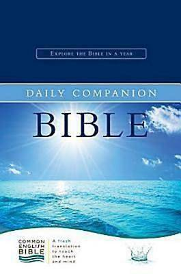 CEB Common English Daily Companion Bible, Bonded EcoLeather Navy