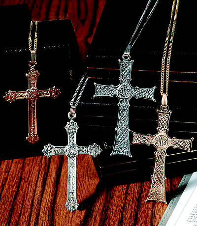 "Picture of 3"" Sterling Silve rClergy Cross; 30"" chain"