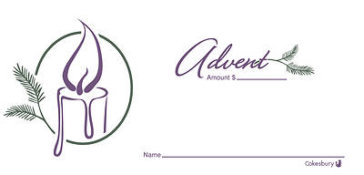 Advent Candle Offering Envelope - Pack of 100