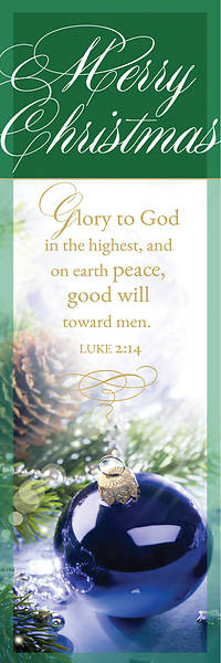 Glory to God Christmas Bookmark