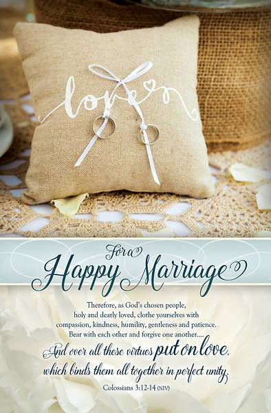 Picture of For a Happy Marriage Wedding Regular Size Bulletin