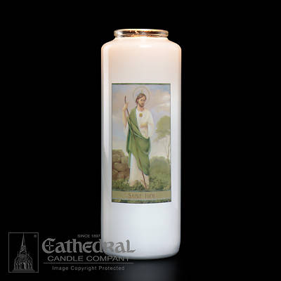 St. Jude 6-Day Glass Prayer Candle