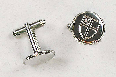 Engraved Episcopal Shield Cufflinks
