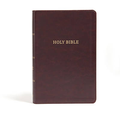 Picture of CSB Large Print Personal Size Reference Bible, Burgundy Leathertouch, Classic Edition