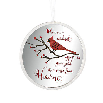 Picture of Cardinal Memorial Disk Ornament 4.5""