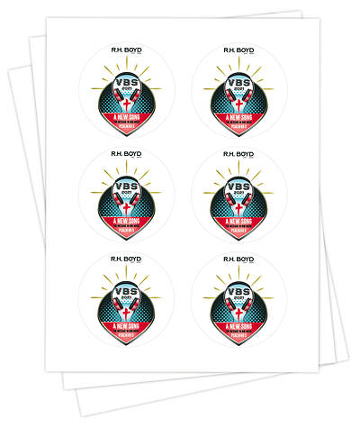 Picture of Vacation Bible School VBS 2021 A New Song The Message in Our Music Sticker Sheets PK25