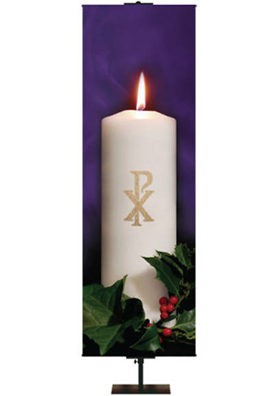 Photo Series Chi-Rho Purple Advent Banner 18