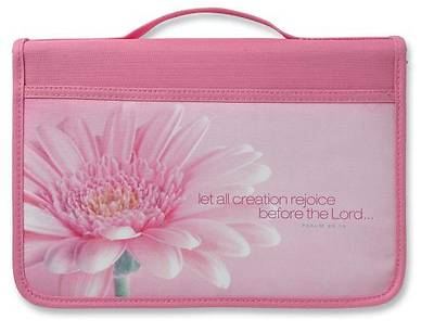 Inspiration Rejoice Canvas Pink Large Bible Cover