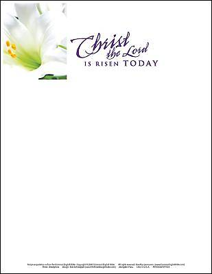 Christ the Lord Easter Lilies Letterhead (Pkg of 50)
