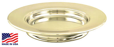 Artistic RW 404BR Solid Brass Stacking Commuion Bread Plate