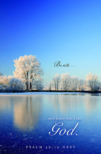 Be Still Winter Bulletin 2012, Regular Size (Package of 50)