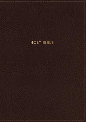 NKJV, Single-Column Reference Bible, Imitation Leather, Brown, Red Letter Edition, Comfort Print