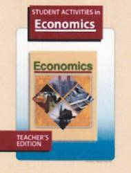 Economics Student Activities Teacher Grd 12