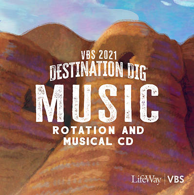 Picture of Vacation Bible School VBS 2021 Destination Dig Unearthing the Truth About Jesus Music Rotation And Musical CD