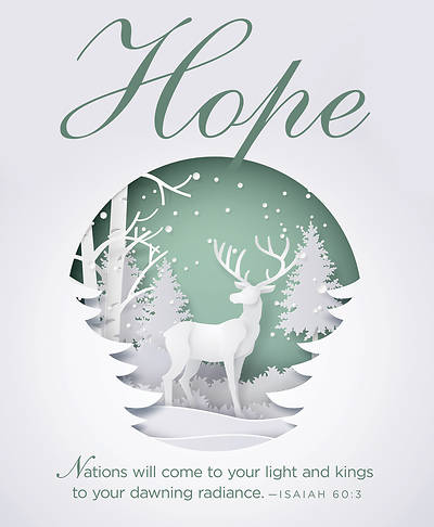 Hope Paper Art Advent Bulletin, Large (Pkg of 50)
