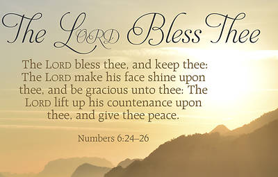 Picture of The Lord Bless Thee Postcard