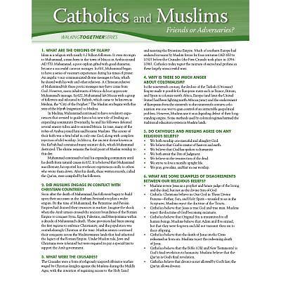 Catholics and Muslims