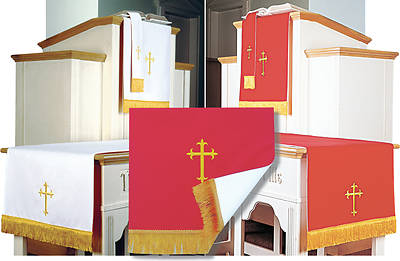 Picture of Abbott Hall EPC3XL-RW Reversible Red/White Three-Piece Parament Set