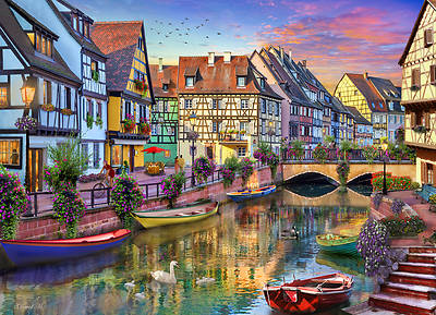 Picture of Colmar Canal Jigsaw Puzzle