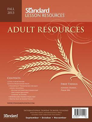 Standard Lesson Quarterly Adult Resources Fall 2013