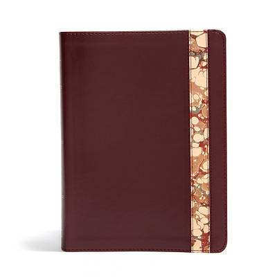 Picture of CSB Spurgeon Study Bible, Burgundy/Marble Leathertouch(r)