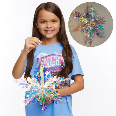 Picture of Vacation Bible School (VBS) 2020 Knights of North Castle Decorating Metallic Snowflakes (Pkg of 2)