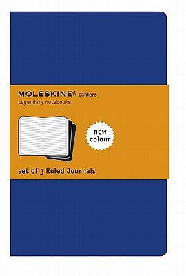 Journal Moleskine Cahier Ruled Blue Extra Large