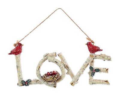 Picture of Birchwood Word Ornament - Love