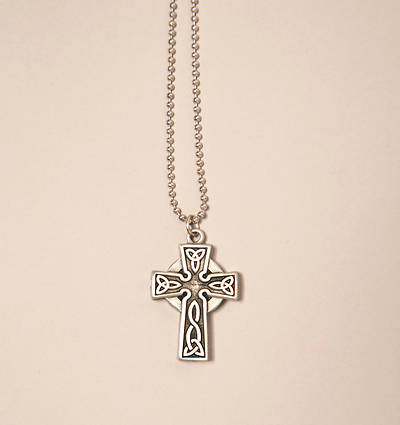 Celtic Prayer Cross Pendant with 18