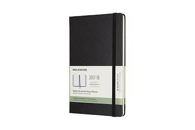 Moleskine 18 Month Weekly Horizontal Planner, Large, Black, Hard Cover (5 X 8.25)